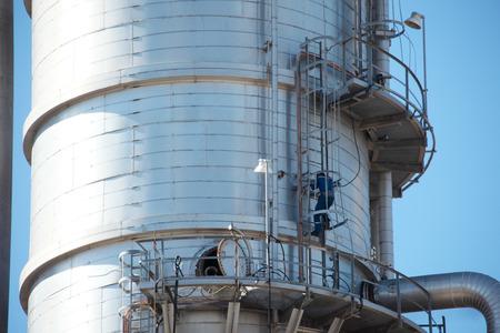 petrochemical: Petrochemical Plant During Maintenance Shutdown