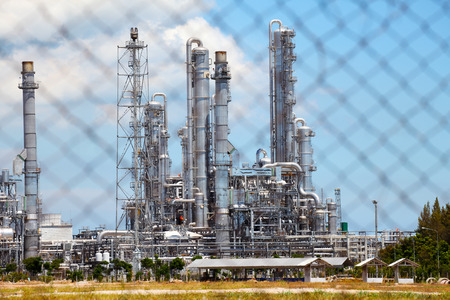 Oil and Gas Refinery Plant in Industrial Zone