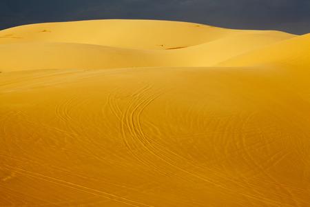 White Sand Dunes in Mui Ne, Vietnam Zdjęcie Seryjne