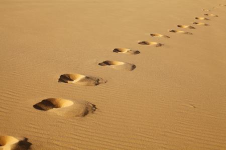 desert footprint: Footprints on White Sand Dunes, Mui Ne, Vietnam