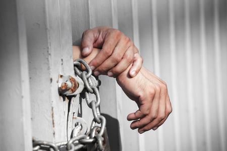 Hand in Jail Zdjęcie Seryjne