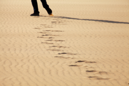 Footprints on White Sand Dunes, Mui Ne, Vietnam