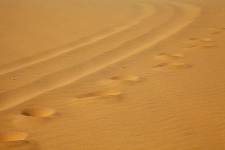 vestige: Footprints on White Sand Dunes, Mui Ne, Vietnam