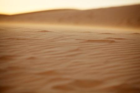 granule: Moving Sand Dunes in Mui Ne, Vietnam, Depth of Field Stock Photo