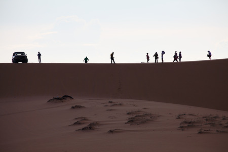 Photo of Sand Dunes with Travellers, Mui Ne, Vietnam