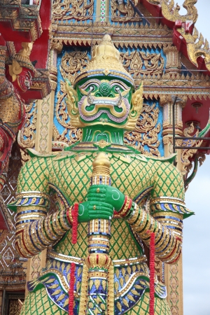 titan: Giant in Thailand Temple he is name Green titan