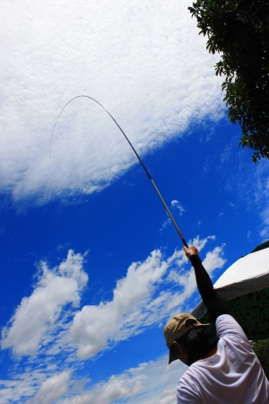 fishing man in a Japan Styles Stock Photo - 17795940