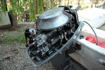 Outboard engines Internal Stock Photo