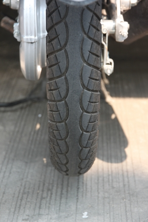 Motorcycle tire Style  photo