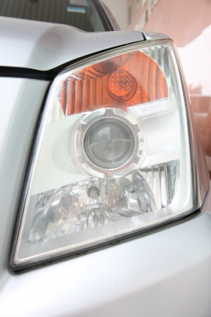 Front Headlamp pickup  Stock Photo