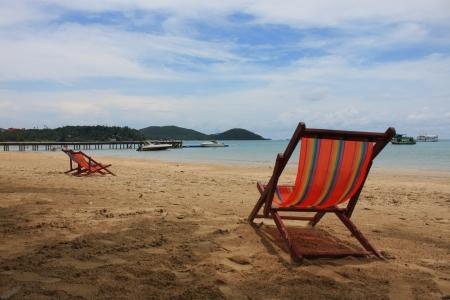 vastness: Beach chair in the Seaside