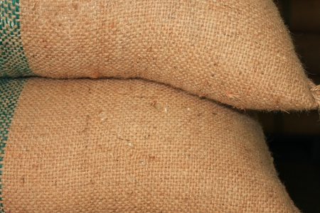The Sacks of rice.It Not smooth texture.