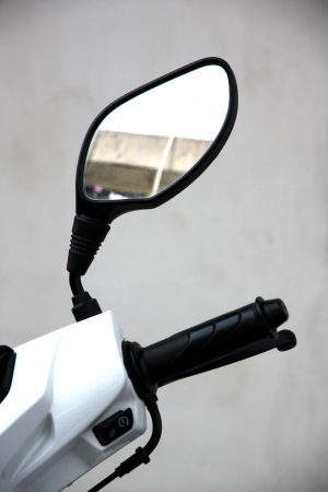 The Motorcycle rear view mirror. photo