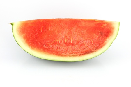 The Focus watermelon on white background. photo