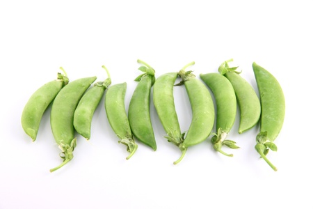 The Green peas on a white background. Stock Photo - 18785879