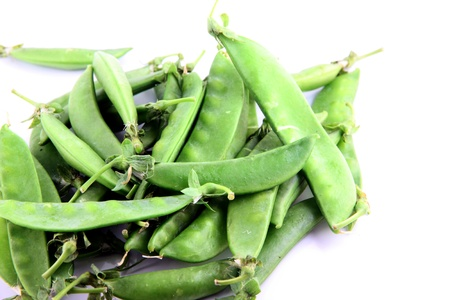 The Green peas on a white background. Stock Photo - 18785741