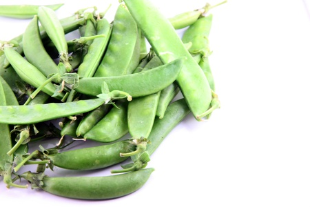 The Green peas on a white background. Stock Photo - 18785758