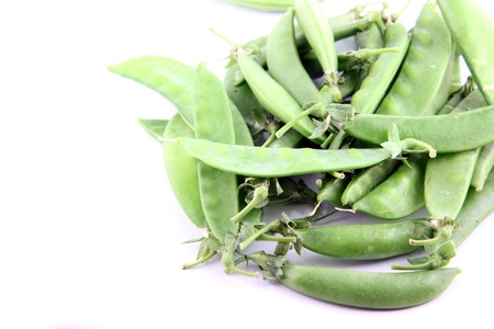 The Green peas on a white background. Stock Photo - 18785759