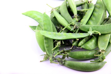 The Green peas on a white background. Stock Photo - 18785740