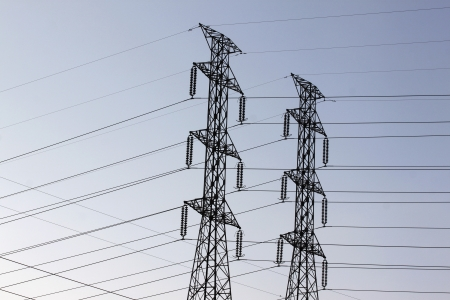 High voltage power pylons  photo