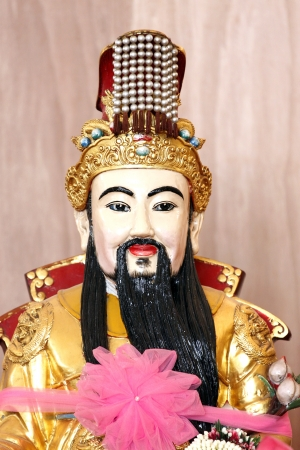 bass relief: The deity of China in the Sanctuary.