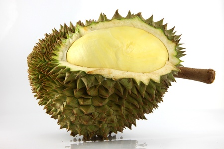 The spiky fruit called the Durian and the king of fruit. photo