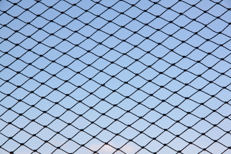fishnets: Shot Photos nets with Blue sky background.