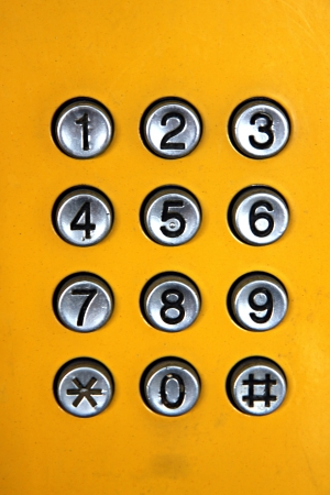 The keypad of the Public phone.