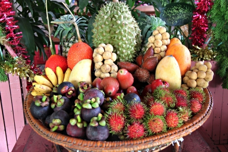 Mixed Fruits of Domestic in Thailand. photo