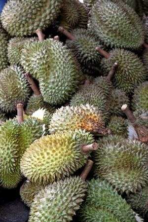 Dump Durian from Thailand is Fruit with a strong smell. photo