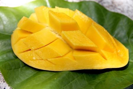 The Ripe mangoes slices. Stock Photo