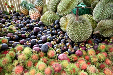 Rambutan and other fruits Domestic in Thailand.