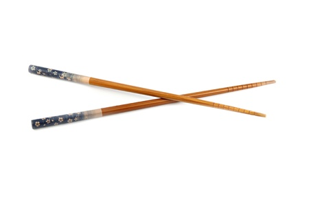 cubed: The Chopsticks of China used Cubed food. Stock Photo