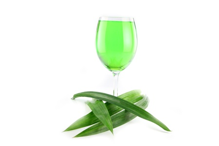 The Green Water Pandan and in a glass.