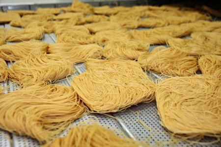 lumpy: The Drying Thai noodles  Stock Photo