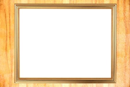 burnish: The Gold frame on Through burnish the wood planks to polished beauty