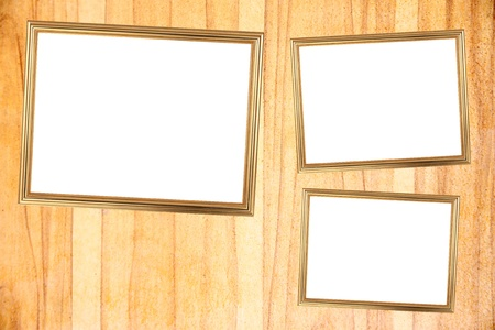 burnish: The Three Gold frame on Through burnish the wood planks to polished beauty