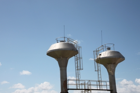 stored: The Stored water on blue sky. Stock Photo