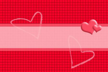 Le fond rouge dans un style concaténation de la boîte et le coeur Image