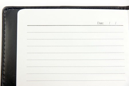 diagonal diary education: The Picture Top corner of a Notebook.