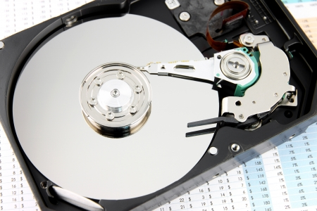 diskdrive: The picture Hard drive Open the top cover off on Business graph.
