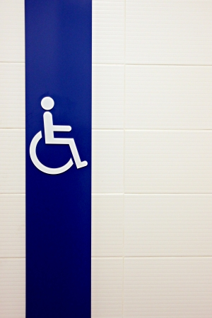 privy: The Picture Symbols for People Disabled Washrooms. Stock Photo