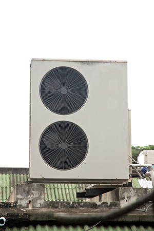housetop: The Fan and Air Conditioner Compressor on Housetop.