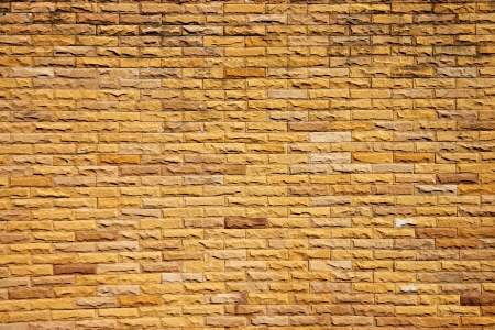 Orange brick wall in construction is part of the house  Stock Photo