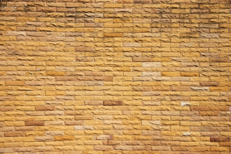 Orange brick wall in construction is part of the house  Stock Photo - 23667948