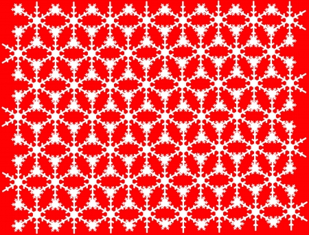 coalesce: The Picture of Snow white patterns on red background  Stock Photo