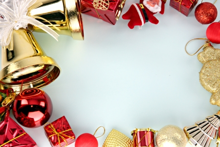 crispy: Crispy golden bells and decorations can use it in Christmas and New Year  Stock Photo
