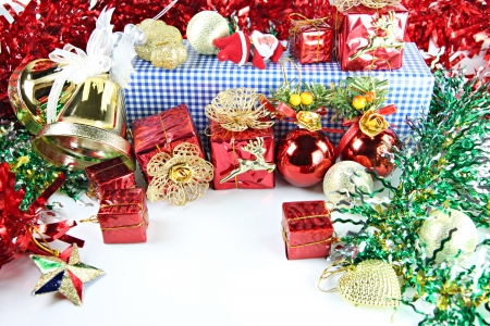Accessory decorations in Christmas or New Year. photo