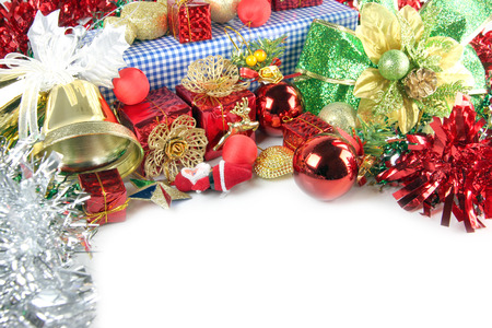 Golden Bells and Accessory decorations in Christmas or New Year  photo