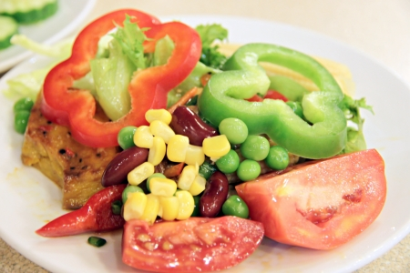 Salad containing vegetables of various kinds Mixed. photo